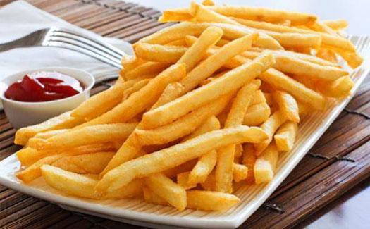 Half- fried potatoes factory