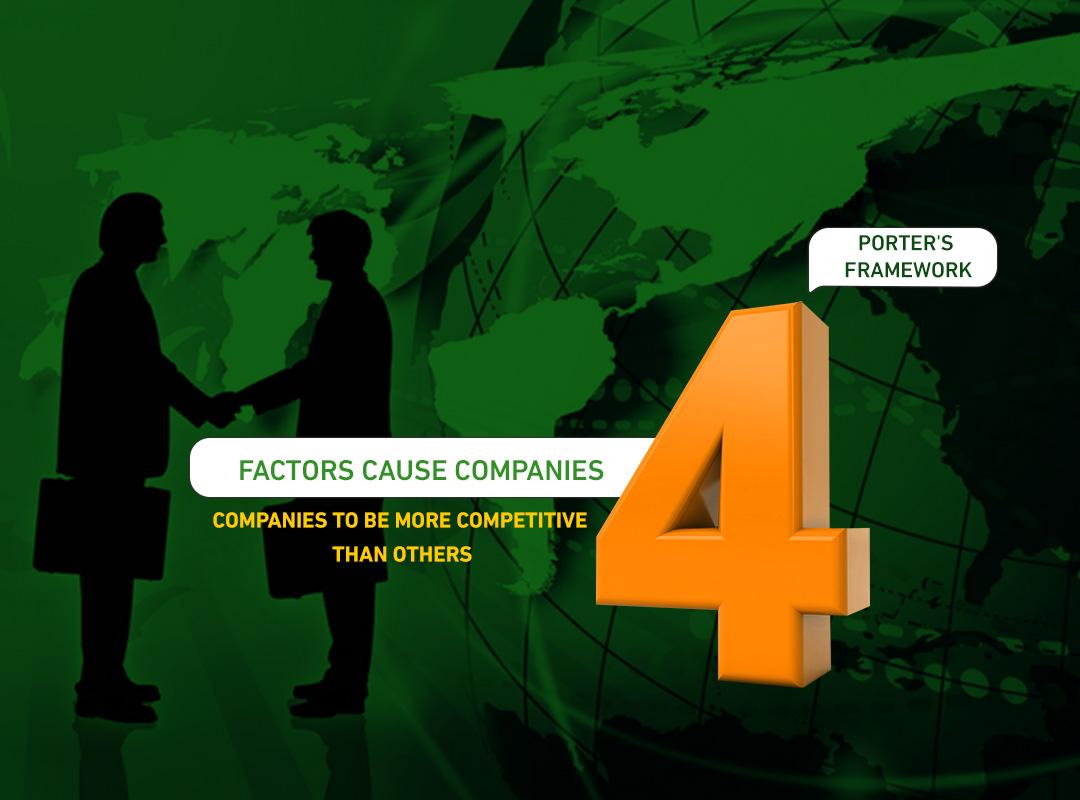 Porter's Framework:  4 factors cause companies to be more competitive than others.